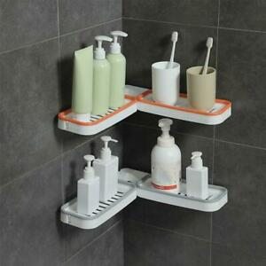 Bathroom Corner Punch-Free Rack Shampoo Storage Rack Holder with Suction Cup NEW