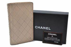 Authentic CHANEL Bicolole Calf Skin Wallet Ivory CC Box B6337
