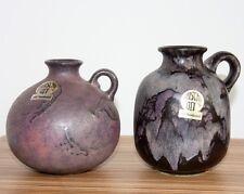 Ruscha 2 su jarrones henkel jarrón degradado West German Pottery