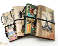 BRITISH Vintage Kraft Diary Retro PU Leather Notebook Journal Sketchbook Note #B