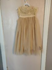 Girls Size 8 Trish Scully Child Gold Dress
