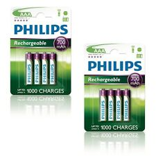 8 x Philips MultiLife batterie rechargeable Micro AAA R03 700 mAh