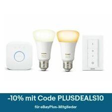 PHILIPS Hue White Ambiance Starter-Kit 2x E27-Lampen Hue + Bridge + Dimmschalter