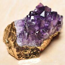"Handmade Natural Purple Cluster Amethyst Gemstone Feng Shui Pendant 2.25"" P17376"