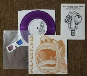 Wolvertoon Postcards and Wolvertunes Purple 45 single Basil Wolverton EC Comics