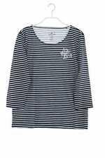 TOM TAILOR 3/4-Arm-Shirt mit M navy blue Oberteil Top