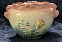 Vintage Original Hull Bow Knot Jardiniere B-18-5. Colorful floral pattern.