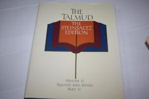 Steinsaltz Talmud Tractate BAVA METZIA II  ENGLISH book Judaica Jewish Book