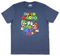 Super Mario Luigi & Mario Short Sleeve Graphic T-Shirt