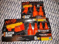 Nerf Alpha Strike Fang QS-4 & Stinger SD-1 Targeting Sets 13 and 11 PC sets New