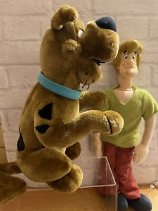"""SCOOBY DOO LARGE 12"""" DOG WITH SOUNDS + SHAGGY / Cartoon Network Vintage 90s"""