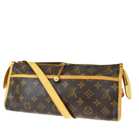 Auth LOUIS VUITTON LV Popincourt Long Shoulder Bag Monogram Brown M40008 89MG827