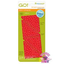 "Accuquilt GO! Fabric Cutter Die 3"" Half Square Triangles Quilt Sew 55009"