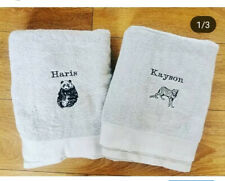 Kids Personalised Towel ANY COLOUR THREAD Any Image
