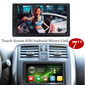 "7"" BT Car Stereo Radio 2DIN HD MP5 Player Touch Screen IOS/Android Mirror Link"