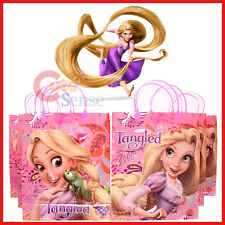Disney Princess Tangled Rapunzel Party Gift Bag- 6pc Plastic/Reusable : Pink