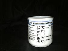 VINTAGE MILK GLASS LIQUID MEASURE CONVERSION TABLE COFFEE TEA MUG