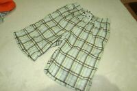 REBEL ~ BOYS GREEN CHECK PLAID CARGO STYLE SWIM BEACH SHORTS ~ AGE 6 - 7 YRS