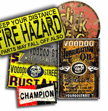 HOT ROD, SKULL STICKER PACK BY VOODOO STREET™, waterproof vinyl, quality, unique