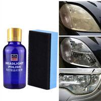 Auto clear Headlight Polish Fluid Restoration Kit Car Scratch Repair Coating UK