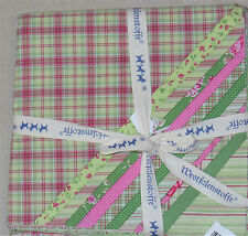 STOFFPAKET 12 Quadrate 48cmx48cm - Patchwork Westfalenstoffe: WALES Grün / Pink