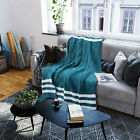 50%22+x+60%22+Blanket+Throw+Chenille+Ultra+Soft+for+Sofa+Couch+Blue