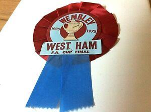 WEST HAM UNITED 1975 FA CUP FINAL WEMBLEY ROSETTE