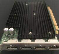 Nvidia Quadro NVS 450 Quad Display Port Video Graphics Card - 4 Display Ports