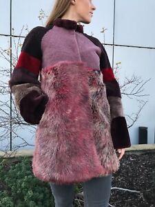 Natural Handmade Sheepskin Fur Coat Size 10