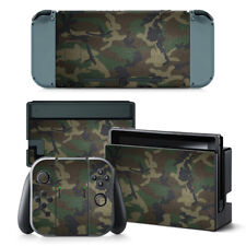 Nintendo Switch Skin Design Foils Schutzfolien Set - Camouflage 3 Motiv