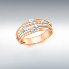 Anelli con diamanti in oro rosa