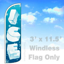 Flag Only 3' Windless Swooper Feather Banner Sign - Ice bq
