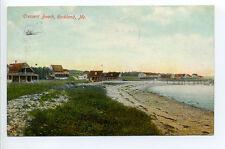 Rockland ME Maine Crescent Beach, cottages 1908