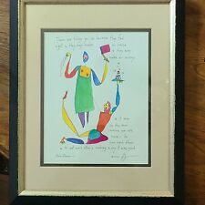 """Vintage Story People """"Real Reason""""By Artist Brian Andreas Signed 2000"""