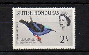 British Honduras 1962 Birds - The 2c Red Legged Honey Creeper MNH stamp S.G. 203