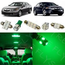14x Green LED lights interior package kit for 2009-2014 Acura TSX + Tool AT1G