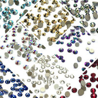 144 Swarovski Crystal Flatback nail art Mixed Tiny Small Size ss5-ss9 Pick Color
