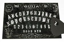Black Wooden Ouija Board game & Planchette with Instruction. Spirit hunt bizarre