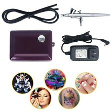 Single-Action Airbrush Set with Portable Mini Air Compressor for Makeup Tattoo