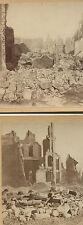 STEREOVIEW RUINS GREAT BOSTON FIRE. 2 SET.