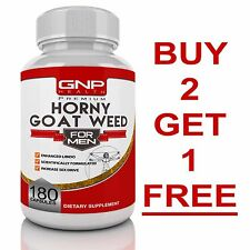 GNP Horny Goat Weed For Men - 180 Capsules - Maca - Tribulus - Testosterone