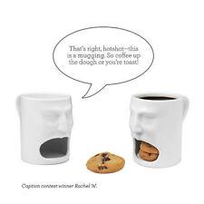 Creative 6oz Biscuit Holder Face Mug - Ceramic Cookies Cup Dunk Mug Funny 8448