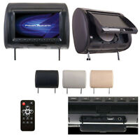 """Power Acoustik 9"""" Headrest Monitor 3-Color Skins LCD/DVD USB/SD SOLD HDVD91CC"""
