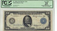 1914 $50 Fifty Dollar Federal Reserve Note Fr-1031b - PCGS 25 Very Fine