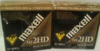 *NEW* Maxell MF 2HD IBM & Compatibles Formatted Floppy Disks (14 Disks) Unused