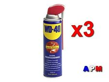 3 WD40  LUBRIFIANT DÉGRIPPANT Système PRO   ( Double Positions)  500 ML