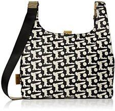 Orla Kiely Womens Bunny Bonnie Midi Sling Messenger Bag Black
