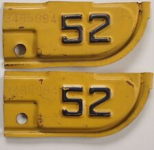 1952 52 California Corner Tabs Tags Attachments YOM okay One Pair