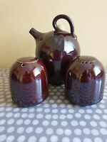 Grayshott Pottery Stoke on Trent. Salt & Pepper Shakers. Oil/Vinegar Pourer