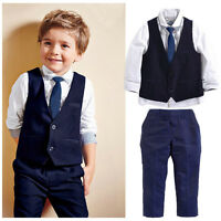 Boys Suits 4 Piece Beige Waistcoat Suit Wedding Page Boy Baby Formal Party Cloth